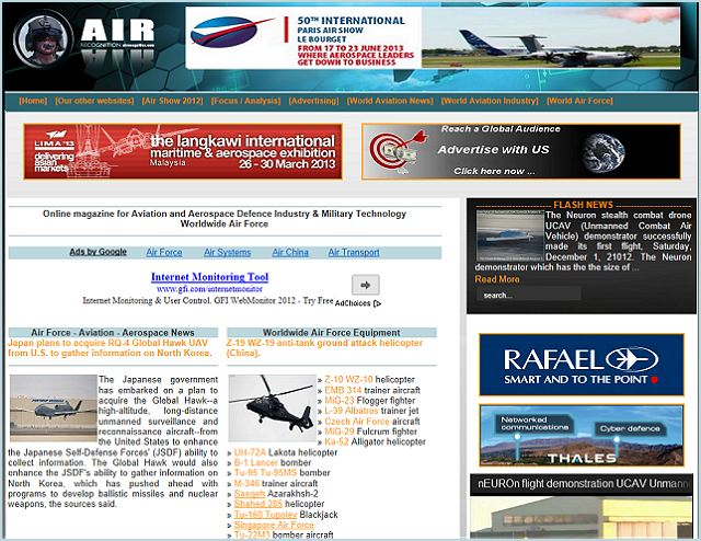 LIMA 2013, the Langkawi International Maritime & Aerospace Exhibition has selected Air Recognition and Navy Recognition, online defence magazine as Official Online Daily News Provider and Media Partner. LIMA 2013 will be held from 26 – 30 March 2013 at Langkawi Airport – Malaysia.