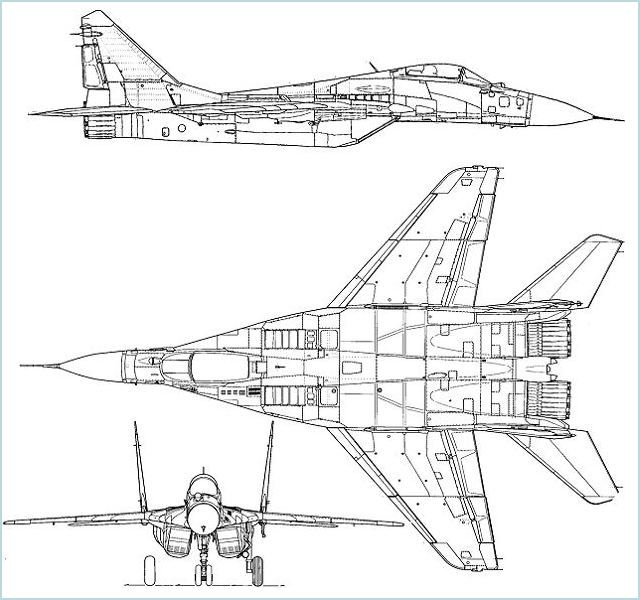 MiG-29 Fulcrum Mikoyan fighter aircraft technical data sheet specifications intelligence description information identification pictures photos images video Russia Russian Air Force aviation air defence industry military technology