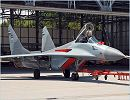 MiG-29B : is capable of carrying two external underwing fuel tanks and an increased (up to 3,000 kg) combat-load. The aircraft is equipped with an active jamming station.