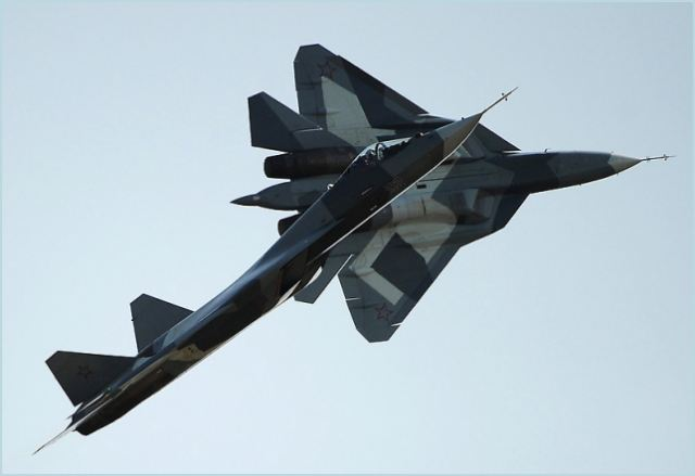 Russia's Sukhoi T-50 5th generation fighter performed its first demonstration flight at the MAKS 2011 International Aviation and Space Show in Zhukovsky, outside Moscow, on Wednesday, August 17, 2011. Russian officials said the final version of the jet will not be ready until the end of 2016. India was reported to be interested in up to 200 T-50 fighters for its air force while Russia was planning to order at least 150.