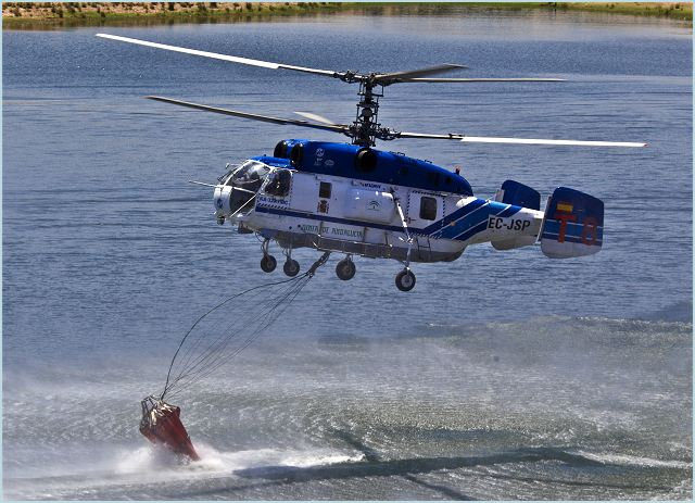 Russian Helicopters holding company, a part of United Industrial Corporation Oboronprom, and the Chief Administration for the social security of Ordos City (China, Inner Mongolia) have signed a contract for the delivery of a civil all-weather multi-role coaxial Ka-32A11BC helicopter in its firefighting variant. The helicopter is equipped with the Simplex firefighting system, horizontal water cannon, and VSU-5 water-dumping system.