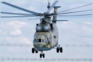 Mi-26 heavy transport helicopter technical data sheet specifications intelligence description information identification pictures photos images video Russia Russian Air Force aviation air defence industry military technology