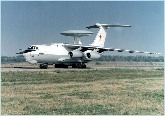 A-50 A-50U AWACS Beriev Mainstay technical data sheet specifications intelligence description information identification pictures photos images video Russia Russian Air Force defence industry technology airborne warning and control system aircraft
