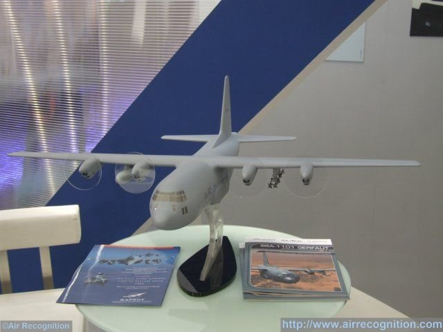 Three French companies, Rafaut, AA/ROK and Sagem are partnering to propose an innovative close air support system for military transport aircraft. In development since 2011, the SSA-1101 Gerfaut system is being showcased on a C-130 aircraft scale model at Paris Air Show 2015. The idea of the concept is to combine the long range of a C-130 Hercules aircraft with Sagem's AASM/Hammer standoff weapon system to cover tactical and special operations.