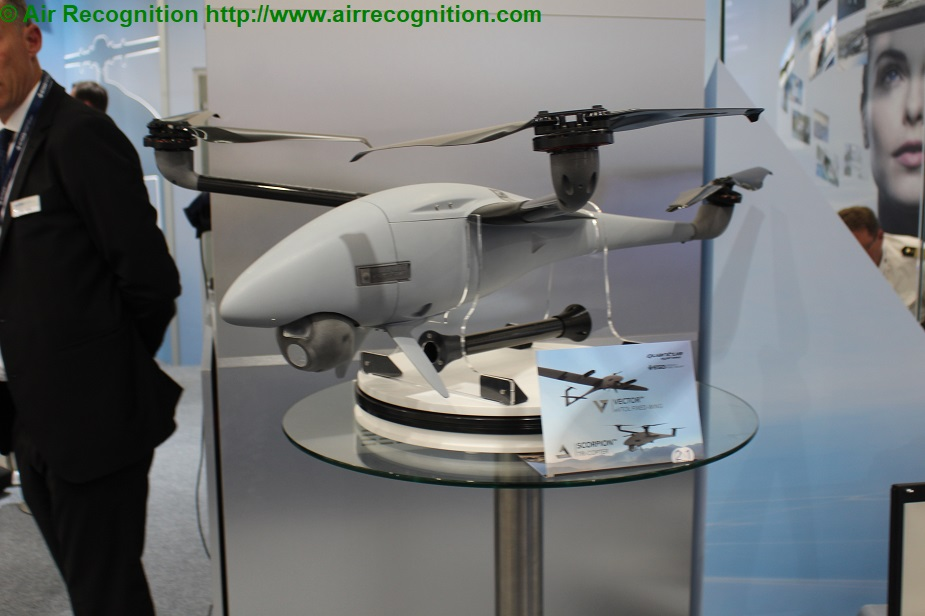 Paris Air Show 2019 Quantum Systems and ESG present Vector and Scorpion UAS SCORPION