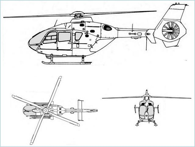 EC135 light utility helicopter technical data sheet specifications intelligence description information identification pictures photos images video France French Air Force aviation aerospace Eurocopter defence industry military technology