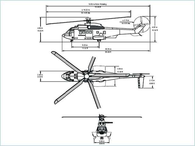 EC225 long-range heavy transport Helicopter technical data sheet specifications intelligence description information identification pictures photos images video France French Air Force aviation aerospace Eurocopter defence industry military technology