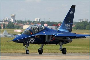 M-346 trainer aircraft technical data sheet specifications intelligence description information identification pictures photos images video Italy Italian Air Force Alenia Aermacchi aviation aerospace defence industry technology