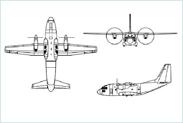 C-27J Spartan military transport aircraft technical data