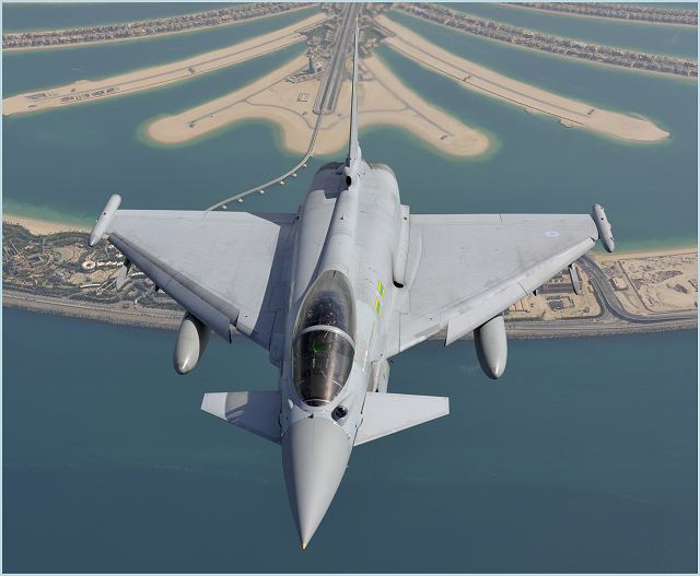 Just a few days after participating in a complex exercise in Al Dhafra, Abu Dhabi and with aircraft still in Malaysia for exercise BERSAMA LIMA 11, two Typhoon jets will appear at the 2011 Dubai Air Show 2011. At the event, where a Typhoon will be flying daily in the air display, Eurofighter will have a large pavilion to exhibit the latest technologies developed for the world's most advanced multi-role combat aircraft.