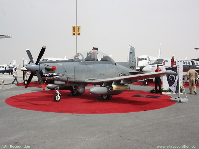 Beechcraft Corporation is bringing its AT-6 light attack aircraft to the Dubai Airshow 2013for the first time, displaying the aircraft Nov. 17-21 at Dubai World Central, before launching a three-month demonstration tour of the aircraft. Beechcraft offers the AT-6 to nations in need of light attack air support for the most demanding scenarios.