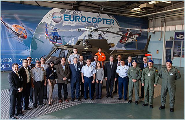 On September 25, Eurocopter delivered the first two AS550 C3 Fennec helicopters to the Ecuadorian Ministry of Defense under a contract signed in 2010 for seven of these helicopters and two AS350 B2s, which were delivered in December 2011. The contract contemplates delivery of two Fennecs per year until 2015.