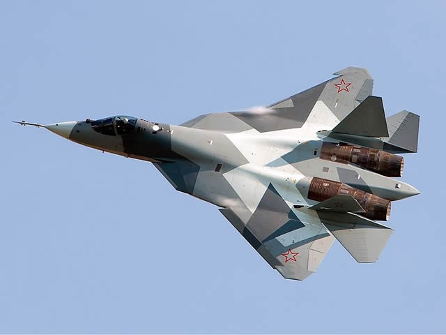 The fifth prototype of the prospective 5th — generation aviation complex (PAK FA, T-50) made its maiden flight in Komsomolsk-on-Amur at the Y.A.Gagarin KnAAZ aircraft