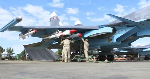 Russian Su 34s deployed in Syria now equipped with air to air missiles 640 001