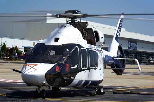 Three months after having unveiled a mockup of the H160 at Heli-Expo 2015, Airbus Helicopters has disclosed the first prototype of the aircraft. Airbus Helicopters unveiled the H160 prototype in the presence of French Prime Minister Manuel Valls. This innovative helicopter also performed its first ground run on May 28, 2015, announced Airbus Helicopters. The company previously reported that the prototype, the first of three, powered on in November 2014.