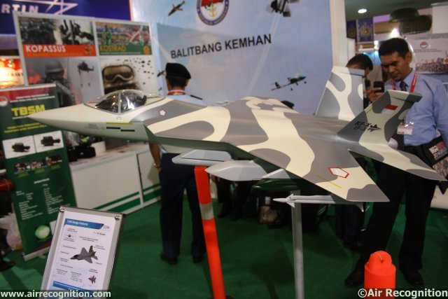 Indonesian Aerospace presents IF-X Block I jet fighter project at IndoDefence 2014 640 002