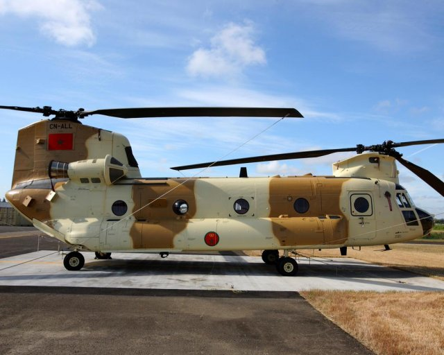 Morocco received its final CH 47D Chinook helicopter 640 001