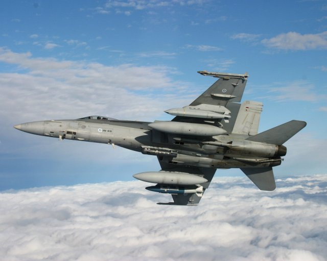 Finnish Air Force receives final upgraded F A 18 Hornet fighter jet 640 001