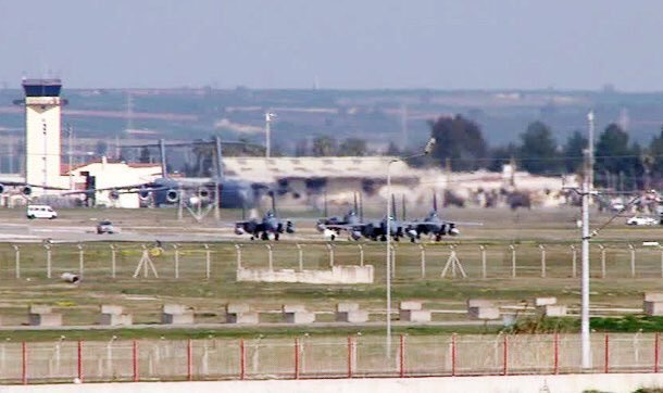 Saudi Air Force s F 15S fighter jets landed in Turkey s Incirlik Air Base 640 001