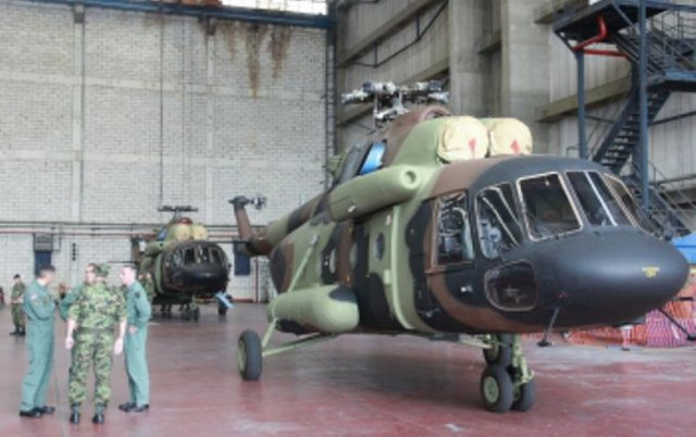Serbia takes delivery of two Mi 17V 5 military transport helicopters 640 001