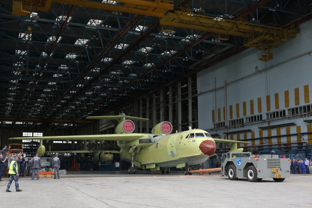 Beriev rolls out first serial produced Be 220Chs amphibious multirole aircraft 640 001