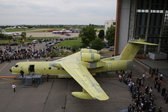 Beriev rolls out first serial produced Be 220Chs amphibious multirole aircraft 640 002