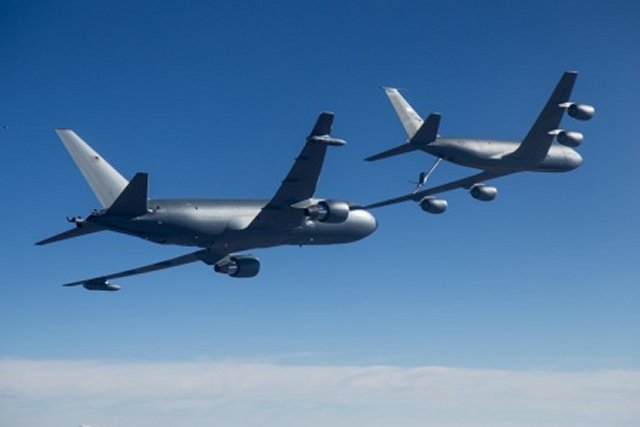 USAF venerable KC 135 tanker supports KC 46 testing program 640 001