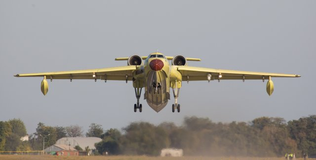 The first Beriev Be 200Chs amphibious aircraft made its maiden flight 640 001