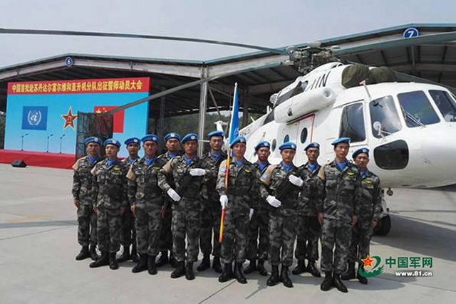 China deploying first helicopter unit to Sudan 640 001