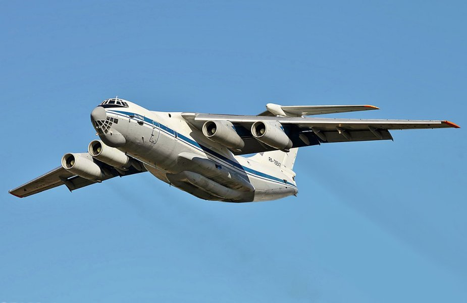 Russia Ilyushin Il 76MD Candid airlifters train to drop bombs