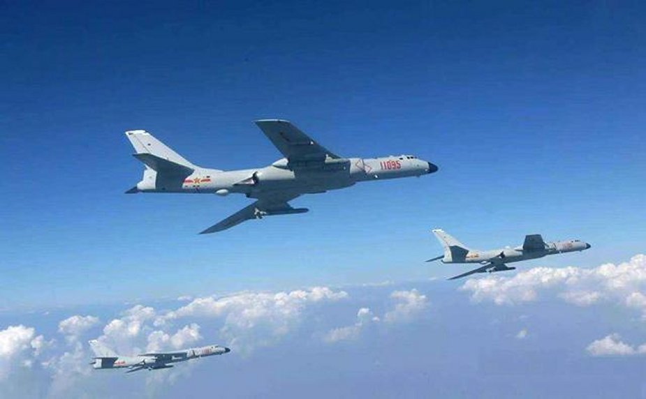 PLAAF H 6K strategic bombers complete large scale drill 001