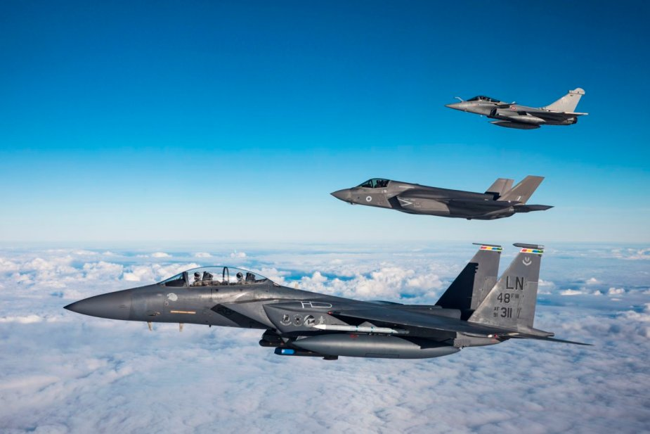 RAF F 35B training for the first time with US and French fighter jets 001