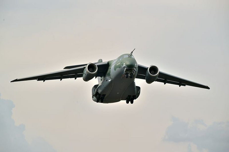 First KC 390 series production airlifter takes to the skies 001