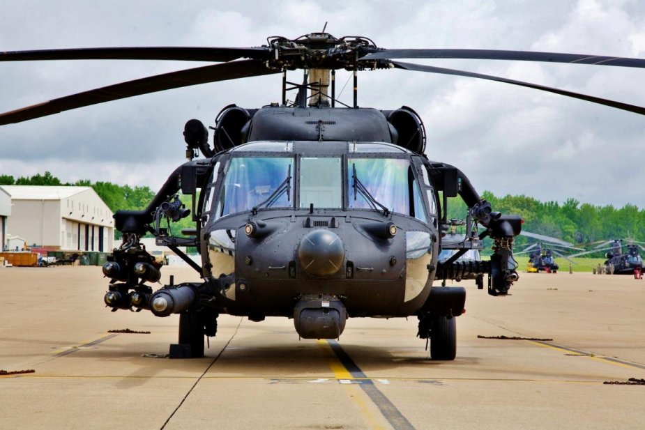 Unitech LASS weapons pylons for Afghanistans UH 60A Black Hawks 001