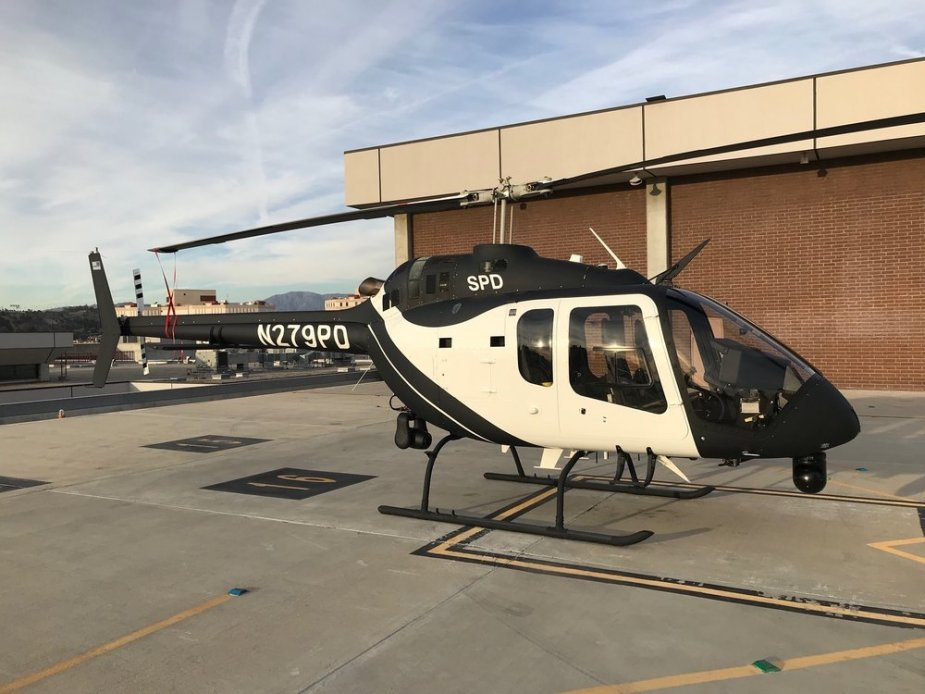 First LaW Enforcement Configured Bell 505 JRX delivered to Sacramento Police Department