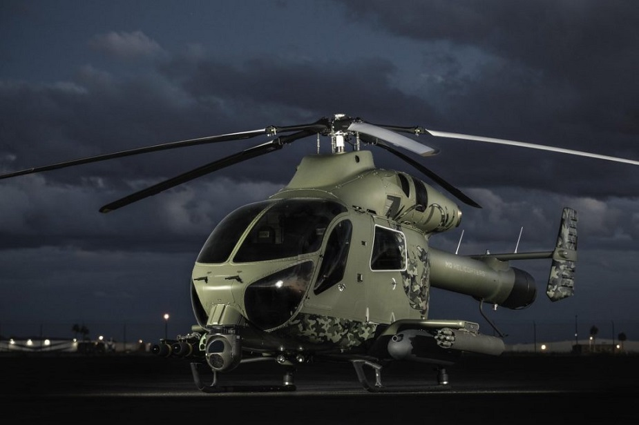 MD Helicopters Enhances MD 969 Twin Attack Helicopter with 7 Shot Common Launch Tube System