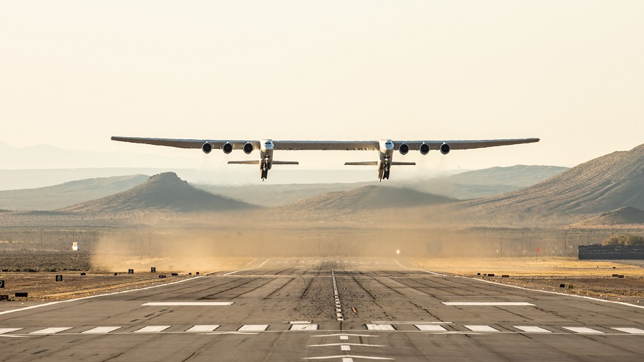 The largest plane in the world makes its first flight