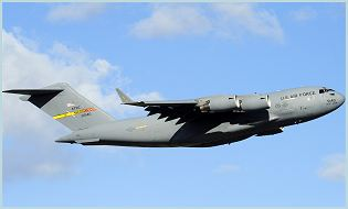 C-17 Globemaster III large military transport aircraft data sheet specifications intelligence description information identification pictures photos images video United States American US USAF Air Force aviation aerospace defence industry military technology Lockheed Martin