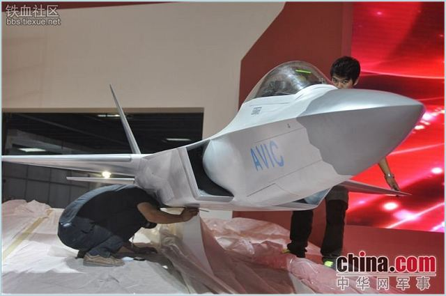 "By installing a large scale model at its booth, the Aviation Industry Corporation of China will officially acknowledge the existence of China's second stealth fighter, dubbed by outsiders as the ""J-31,"" which made its maiden flight on October 31."