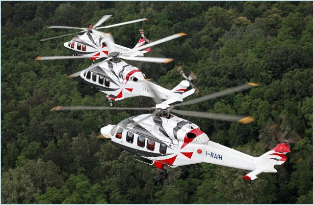 The all new AW189 (above) was launched in June 2011 in response to the growing market demand for a modern technology long range helicopter in the 8-tonne class for offshore and SAR missions. Civil certification is on schedule to be achieved in the second half of 2013 with deliveries to follow soon after.