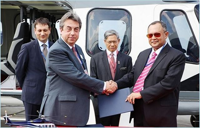 AgustaWestland and Weststar Aviation Services signed a contract for the supply of six AW139 and two AW189 helicopters, plus options, at the Langkawi International Maritime and Aerospace LIMA 2013 exhibition this week. The contract signing by Tan Sri Syed Azman Syed Ibrahim, Group Managing Director of Weststar and Geoff Hoon, Managing Director International Business, AgustaWestland, was witnessed by the Malaysian Minister of International Trade & Industry, YB Dato' Sri Mustapa Mohamed.