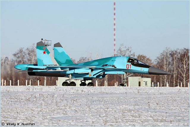 "Five Su-34 frontline bombers will be deployed in an air base near the city of Voronezh in southwest Russia, a spokesperson with the Russian Western Military District said Tuesday, December 25, 2012. ""Five Su-34 multi-purpose frontline bombers have left Novosibirsk aircraft building plant to Voronezh, a distance of over 3,000 km,"" Andrei Bobrun told reporters."