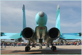 Su-34  Fullback strike fighter bomber technical data sheet specifications intelligence description information identification pictures photos images video Sukhoi Sukhoi Company Russia Russian Air Force aviation air defence industry military technology