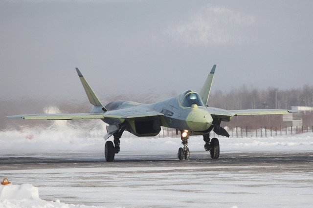 Russia's prototype fifth-generation Sukhoi T-50 fighter jet has carried out its first long-range flight during the transfer from a manufacturing plant in Russia's Far East to an assigned airfield near Moscow, deputy Prime Minister Dmitry Rogozin said on Thursday, January 17, 2013.