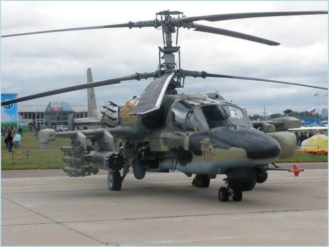 The newest combat helicopters Ka-52 Alligator will be supplied to the air base of the formation of Air Force and Air Defense Forces of the Southern Military District located in Krasnodar Territory until the end of 2012.