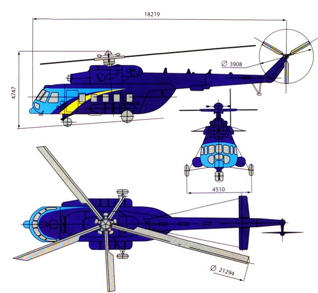 Mi-171 cargo passenger transport helicopter technical data sheet specifications intelligence description information identification pictures photos images video Russia Russian Air Force aviation air defence industry military technology