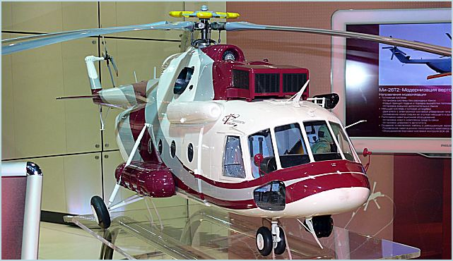 Russian Helicopters, a subsidiary of Russian industry giant Oboronprom, presented its Mi-171A2 model at HeliExpo 2012 in Dallas, TX. The helicopter was displayed at booth number 3422. This is a heavily modernised and revamped version of the Mi-8/17, the Russian bestseller that ranks among the most popular helicopters in the world.