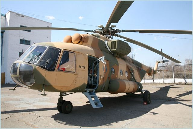 Rosoboronexport and Chinese company Poly Technologies, Inc. in August signed a contract for delivery of 52 Mi-171E transport helicopters to China in 2012-2014. The first eight Mi-171Es are scheduled for delivery in 2012, with the rest slated for 2013 and 2014. The contracts follow on from agreements signed in 2009 by Russian Helicopters and Poly Technologies for delivery of 32 Mi-171Es to China.