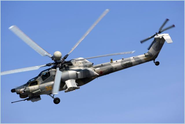 Mi-28NE Night Hunter strike helicopter, which can fly search-and-destroy missions against a range of targets including armoured vehicles, artillery positions and anti-aircraft emplacements, as well as enemy helicopters.