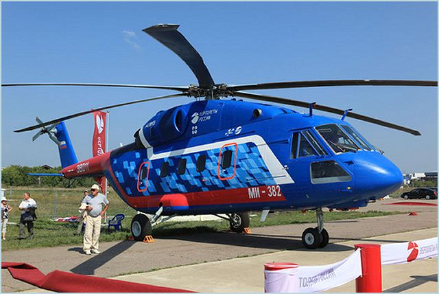 The new Mi-38 is a next-generation transport and passenger helicopter capable of carrying up to 30 people or loads of as much as 7 tons at standards of safety and comfort that are among the best in its class. Two prototypes have already been made – the OP-1, using TV7-117V engines, and the OP-2, with engines by Pratt & Whitney – and a third is currently in the process of assembly. Certification of the Mi-38 is planned for 2014.